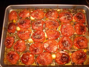 Tomatoes after roasting.