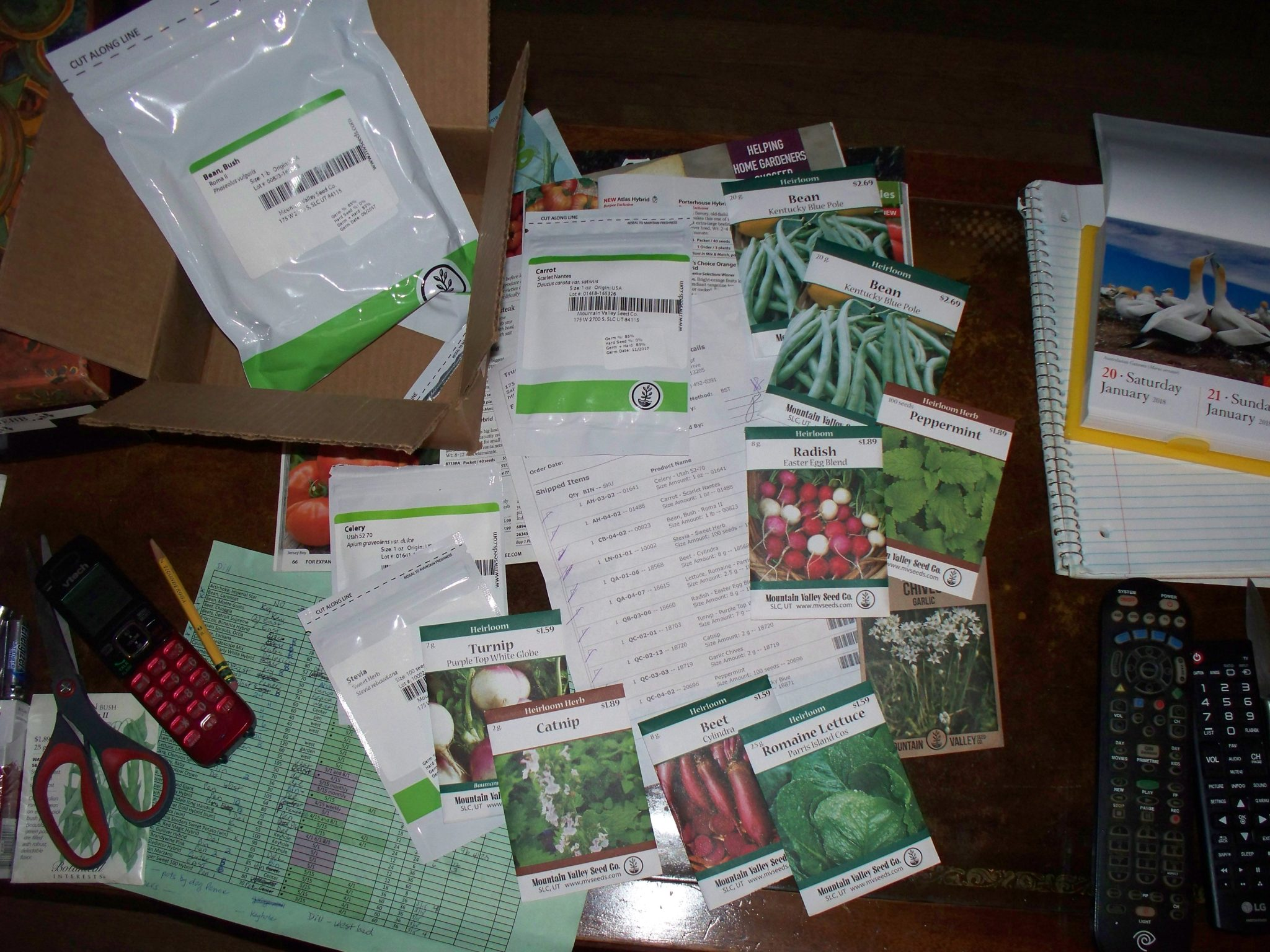 My True Leaf Market Order Of Mountain Valley Seeds For 2018